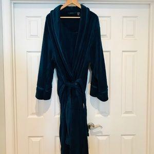 Soft Plush Navy Robe